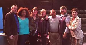 Alex and GHAA faculty members with Ann Hampton Callaway and Liz Callaway, April 2015. Photo Courtesy of Eric Larivee.