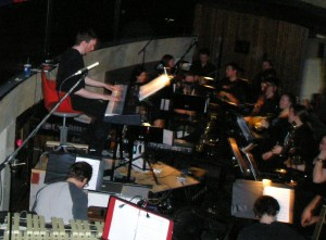 Alex and the orchestra of Jesus Christ Superstar, March 2013. Photo by Kathryne Lee Tirrell.
