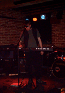 Kurzweil SP88 with Kurzweil ME-1 on the floor; Show at The Century Lounge, December 2005.
